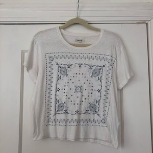 Madewell White with Design Top